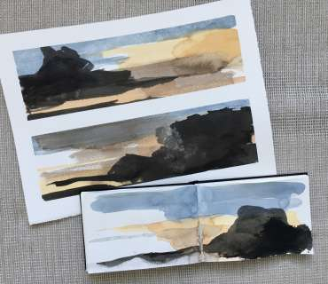 Thumbnail image of David Clarke, 'Mood Scape' series - work in progress (2) - Inspired | April