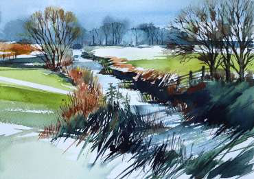 Thumbnail image of Deborah Bird, 'Down by the River, Frisby-on-the-Wreake' - Inspired   April