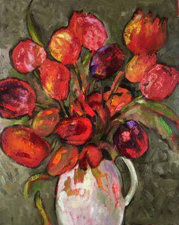 Thumbnail image of Judy Merriman, 'Bunch of Tulips' - Inspired | April