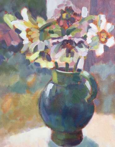 Thumbnail image of Lesley Brooks, 'Narcissi and Hellebores' - Inspired   April