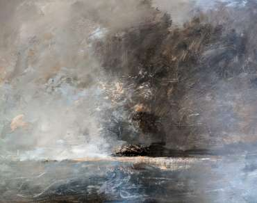 Thumbnail image of Linda Sharman, 'Scrawly Clouds Moving, Norfolk' - Inspired | April
