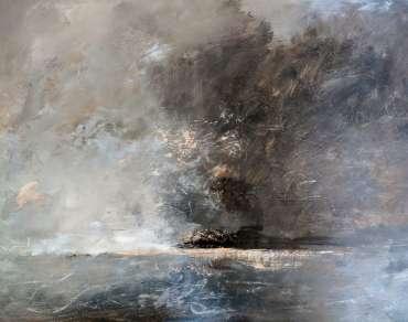 Thumbnail image of Linda Sharman, 'Scrawly Clouds Moving, Norfolk' - Inspired   April