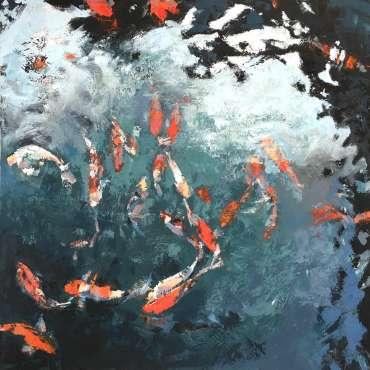Thumbnail image of Lisa Timmerman, 'Koi Study 3' - Inspired | April