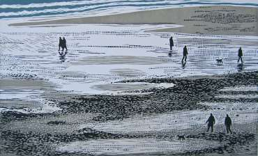 Thumbnail image of Sally Hill, 'Walkers at Low Tide' - Inspired   April