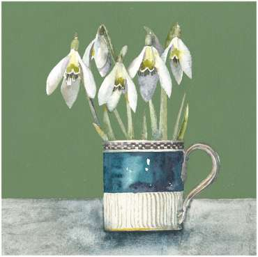 Thumbnail image of Vivienne Cawson, 'Snowdrops in Spode' - Inspired   April