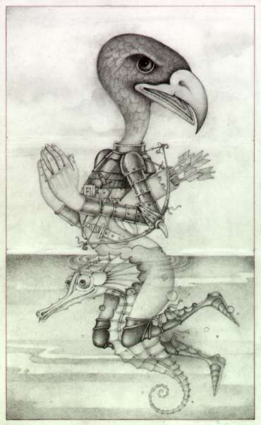 Thumbnail image of Wayne Anderson, 'A Wing and a Prayer' -Pre-colour rough for book idea - Inspired | April