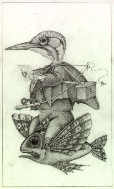Thumbnail image of Wayne Anderson, 'Flying Fish' - Pre-colour rough for a book idea - Inspired | April