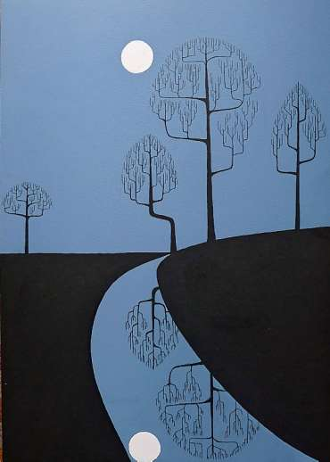 Thumbnail image of Stuart Hill, 'Moon's Bright Reflection' - Inspired |  May