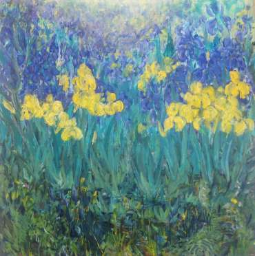 Thumbnail image of Glen Heath, 'Wild Irises - The Canal Garden' - Inspired |  May