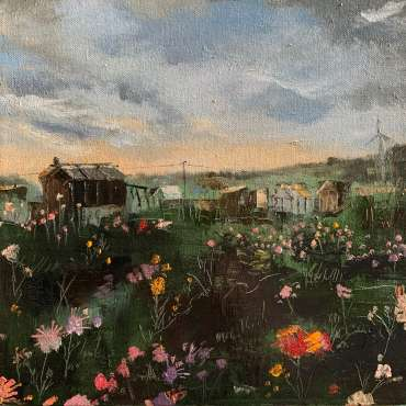 Thumbnail image of Julie Manson, 'Late Summer Flowers on the Plot' - Inspired |  May