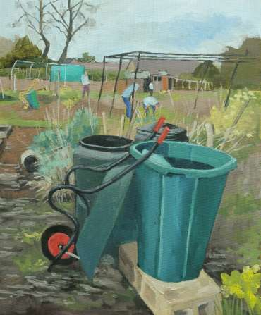 Thumbnail image of Mary Rodgers, 'Local Allotments' (work in progress) - Inspired |  May