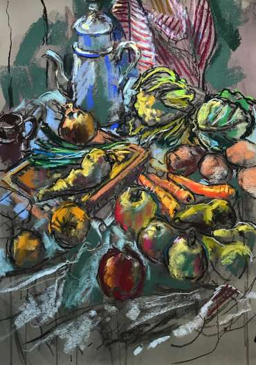 Thumbnail image of Sue Sansome, 'Fruit and Vegetables in my Summerhouse' - Inspired |  May
