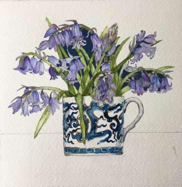 Thumbnail image of Vivienne Cawson, 'Bluebells in Coalport' - Stage 2 - Inspired |  May