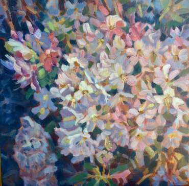 Thumbnail image of Lesley Brooks, 'Rhododendrons - Pink' - Inspired | June
