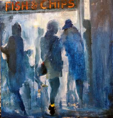Thumbnail image of Linda Sharman, 'Friday night, Fish & Chips' - Inspired | June