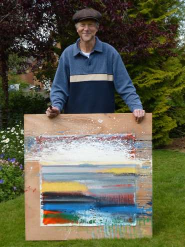 Thumbnail image of Philip Dawson with 'Lax Hill, Rutland' (work in progress) - Inspired | June