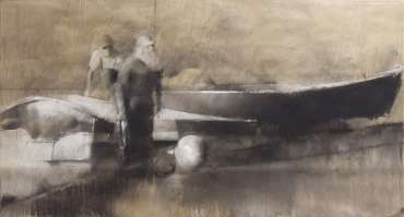Thumbnail image of Chris Macauley, 'Whitby Harbour, Lobster Boat' - Inspired | July
