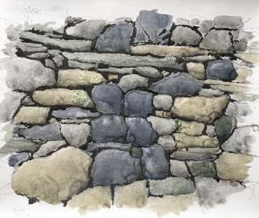 Thumbnail image of David Clarke, 'Old Stone Wall' - Work in Progress - Inspired | July