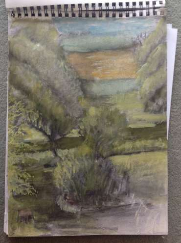 Thumbnail image of Glen Heath, View from bedroom, Canal Gardens - Inspired | July