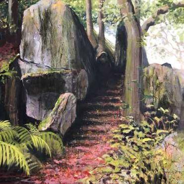 Thumbnail image of Jo Sheppard, 'Cademan Steps' (work in progress - 2) - Inspired | July