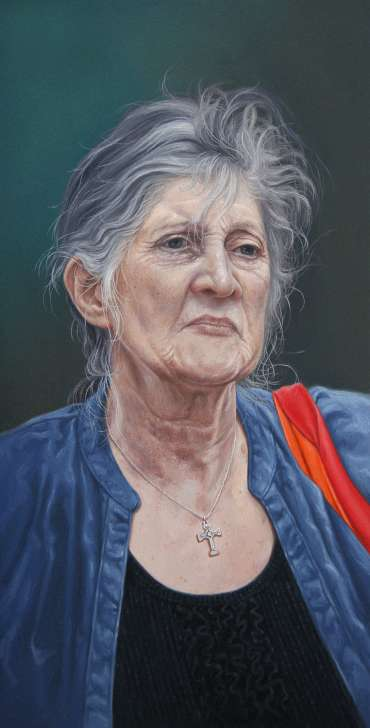 Thumbnail image of Pete Underhill, 'Red & Orange - a portrait of Laura Grieve' - Inspired | July
