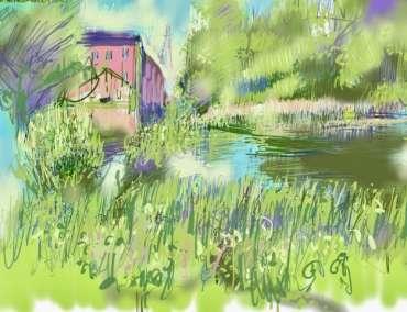 Thumbnail image of Tony O'Dwyer, ' Canal at Aylestone' - Inspired | July