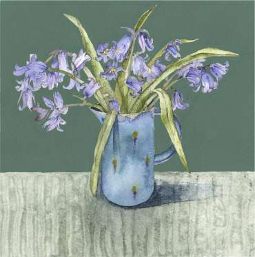 Thumbnail image of Vivienne Cawson, 'Bluebells in Small Jug' - Inspired | July