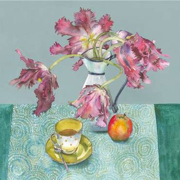 Thumbnail image of Vivienne Cawson, 'Tea and Tulips with Suzie' - Inspired | August