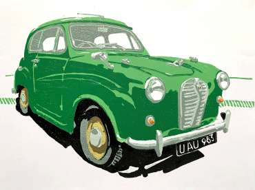 Thumbnail image of Frank Bingley, 'Austin A30 Saloon' - Inspired   November 2020