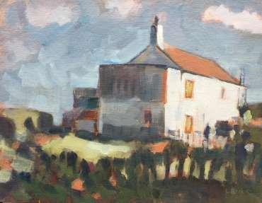 Thumbnail image of Lesley Brooks, 'Cliff Top House, Cromer, Spring' - Inspired   November 2020