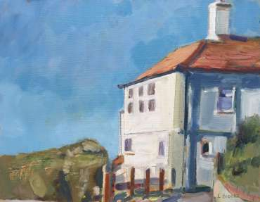 Thumbnail image of Lesley Brooks, 'Cliff Top House, Cromer, Summer' - Inspired | November 2020