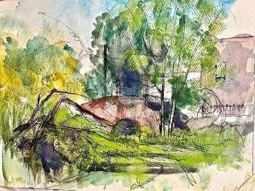 Thumbnail image of Tony O'Dwyer, 'Canal at Aylestone Meadow' - Inspired   November 2020
