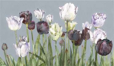 Thumbnail image of Vivienne Cawson, 'A Row of Tulips' - Inspired | November 2020
