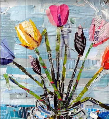 Workshop | Ripped Paper Collage: Spring Bouquet - Danielle Vaughan