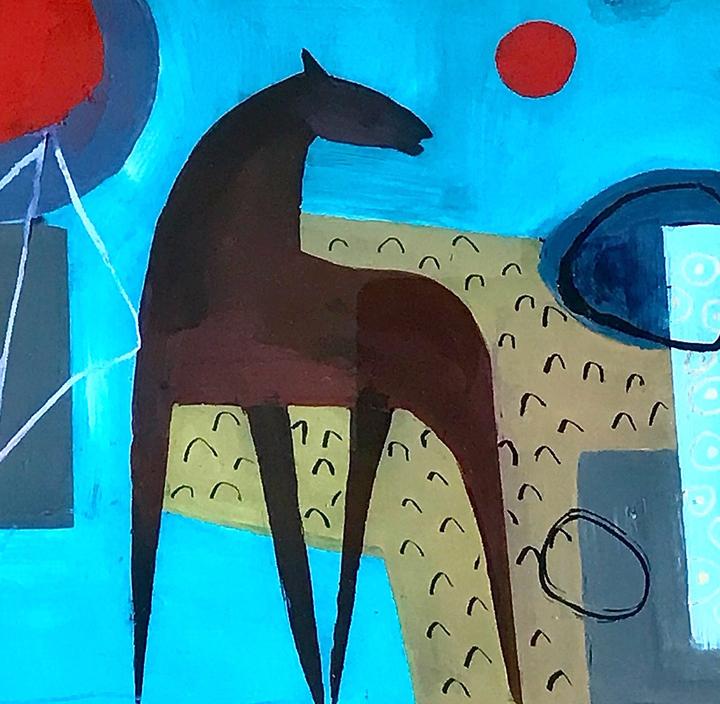 Henrietta Corbett, 'Horse with Ochre Field'