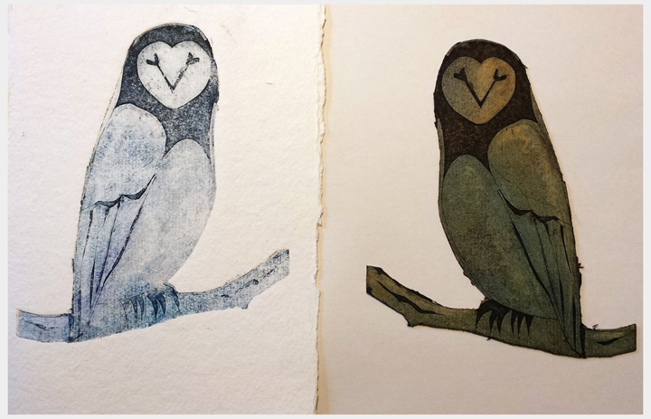 Jo Sheppard - collagraph by student