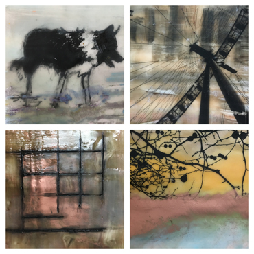 Encaustic improvers workshop - student work