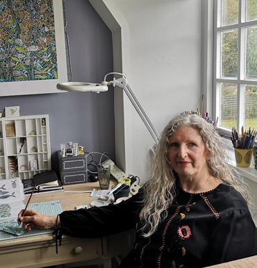 Maria Boyd in her studio