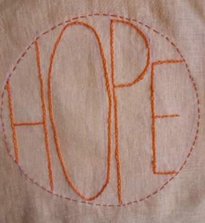 Patchwork 'Hope' piece