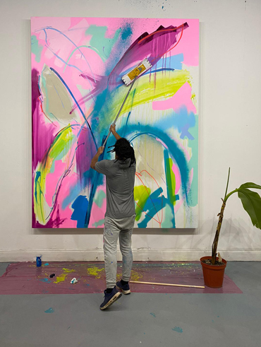 Tim Fowler painting work for 'Potassium'
