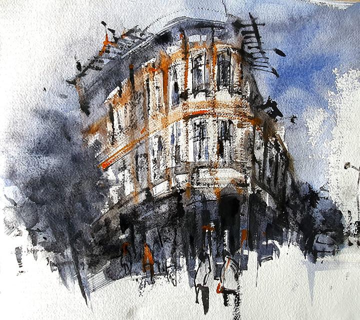 Yap Yeen Yee, sketch of 'The Exchange, Leicester'