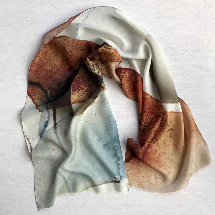 Deborah Bird - Long silk and wool scarf