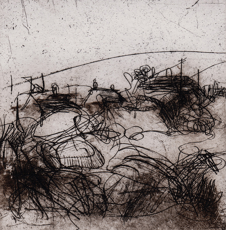 Emma Fitzpatrick, Anglesey, etching