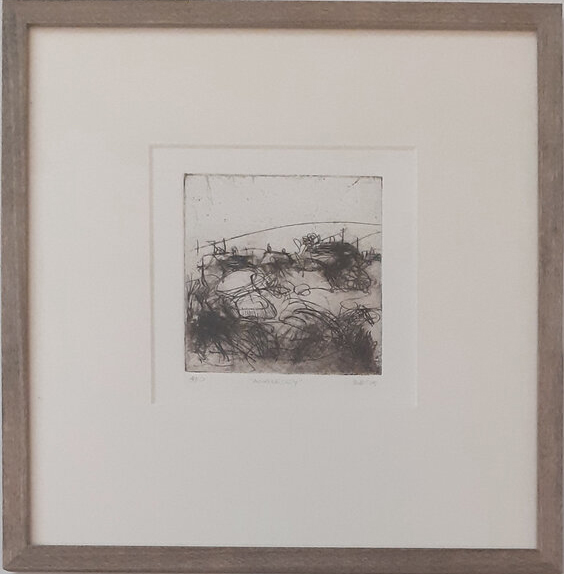 Emma Fitzpatrick, Anglesey, framed etching