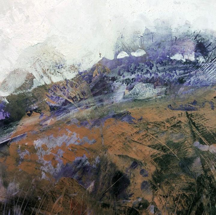 Jo Sheppard - 'Purple Landscape', mixed media