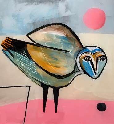 Thumbnail image of Henrietta Corbett, Green Owl Pink Moon - Inspired | March