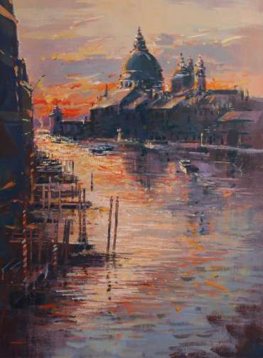 Thumbnail image of Terry Lord, Sunrise, Grand Canal, (Trial piece) - Inspired | March