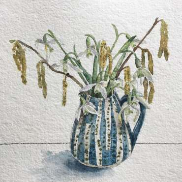 Thumbnail image of Vivienne Cawson, Snowdrops and Catkins - Inspired | March