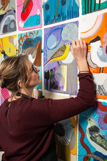 Lucy Stevens in her studio