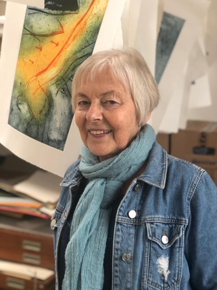 Catherine Headley in her studio, 2021